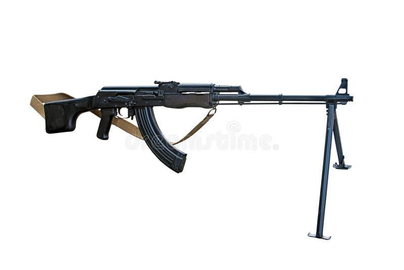 Handheld machine gun isolated on white background. Stock photo royalty free stock image