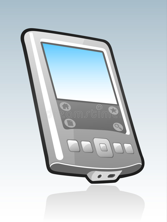 handheld mobil pda stock illustrationer