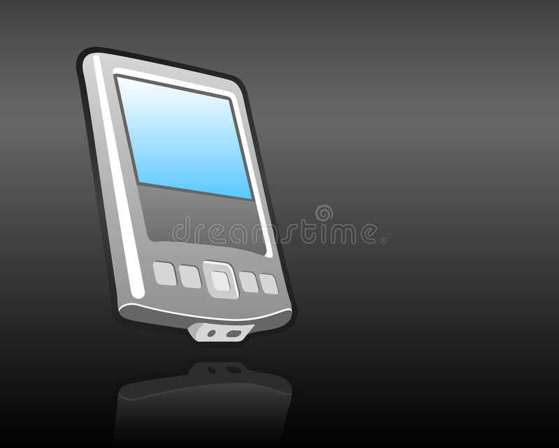 Download Handheld mobile PDA stock vector. Image of cellular, buttons - 2477210