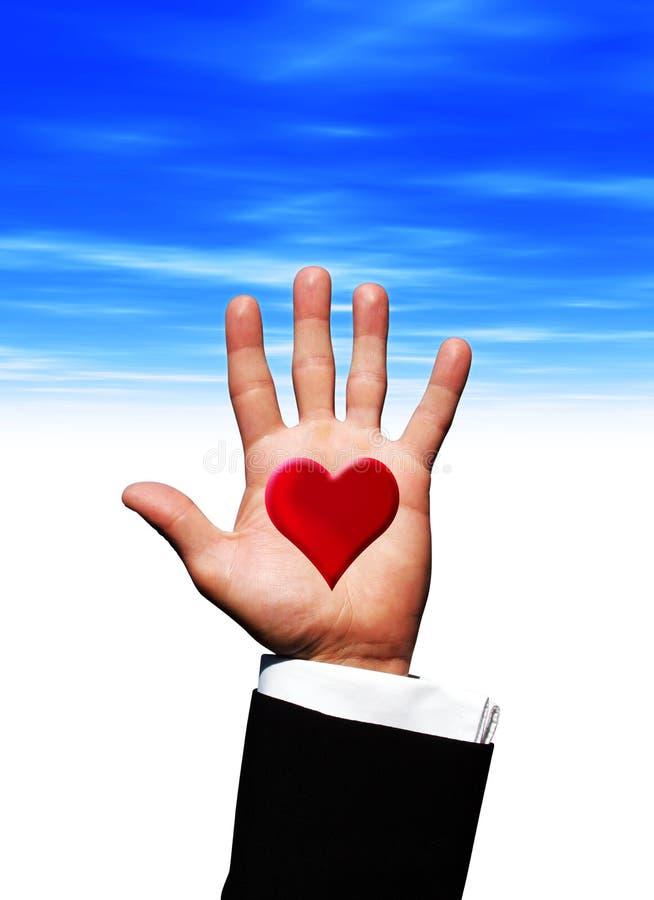handhjärtaförälskelse vektor illustrationer