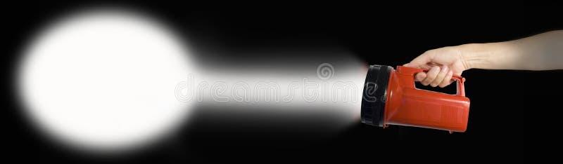 Handholding-Blinkenleuchte stockfoto