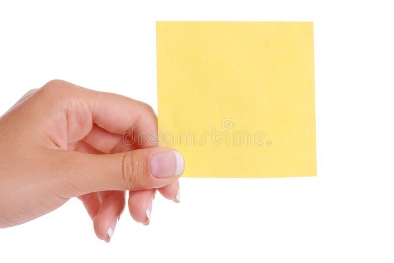 Handholdingbriefpapier stockfoto