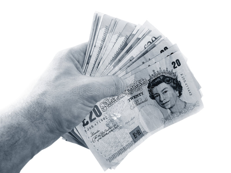 Handholdinggeld lizenzfreies stockbild