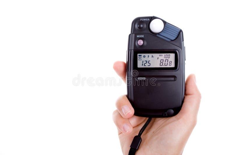 Handholdinglichtmesser getrennt auf Weiß lizenzfreies stockbild