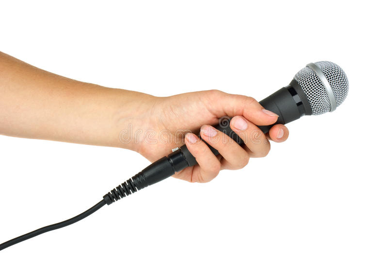 Handholdingmikrofon lizenzfreie stockfotografie