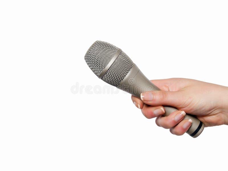 Download Handholdingmikrofon arkivfoto. Bild av medel, diskussion - 19797204