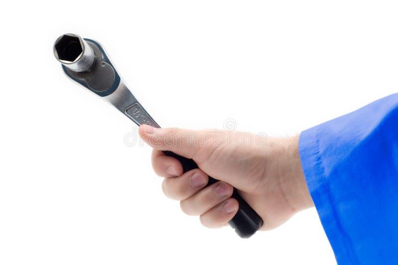 Download Handholdingskiftnyckel arkivfoto. Bild av kraft, handtag - 506648