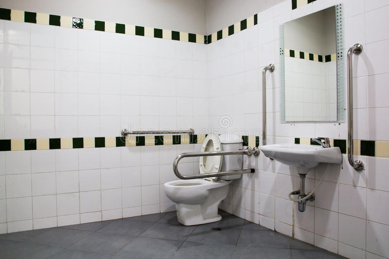Download Handicap Bathroom With Grab Bars And Ceramic Tile Stock Photos    Image: 31635313