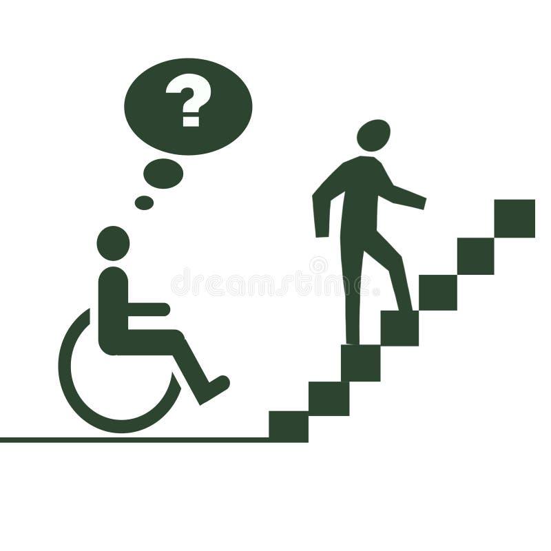 Handicap di handicap royalty illustrazione gratis
