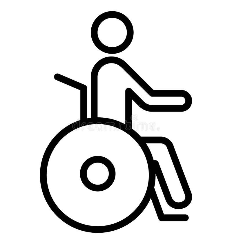 Handicap Geïsoleerd Vectorpictogramgebruik voor Reis en Reisprojecten vector illustratie