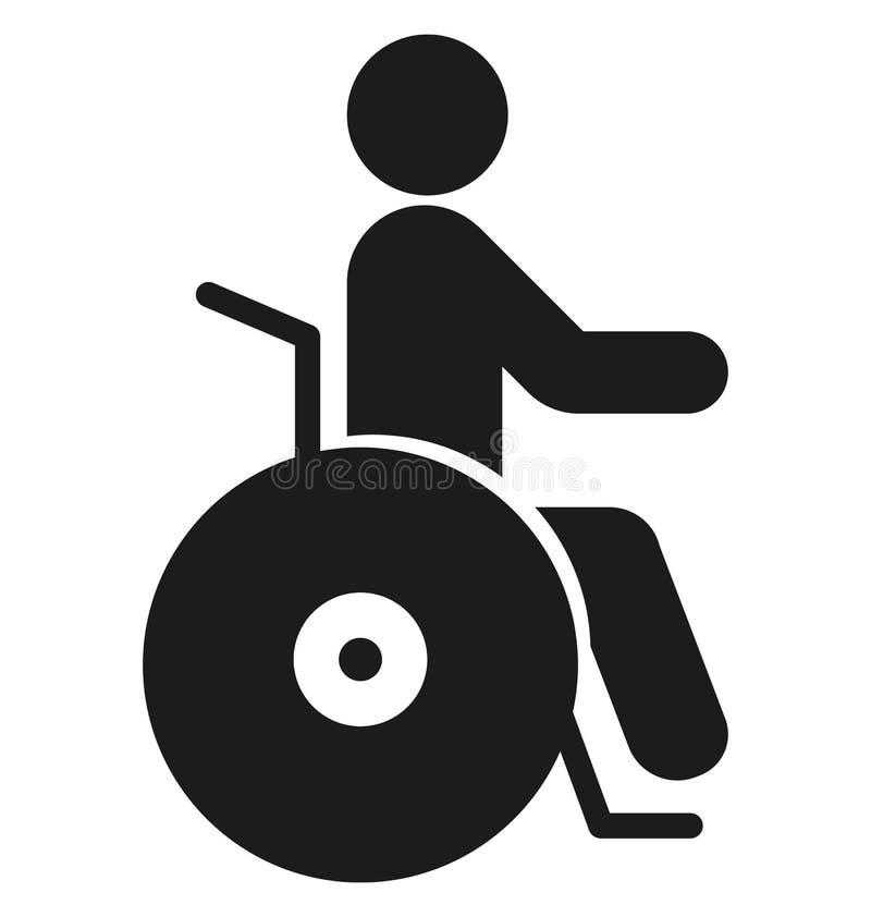 Handicap Geïsoleerd Vectorpictogramgebruik voor Reis en Reisprojecten stock illustratie