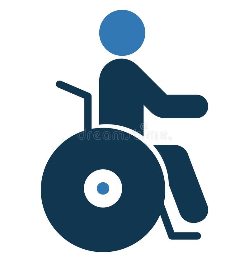 Handicap Geïsoleerd Vectorpictogramgebruik voor Reis en Reisprojecten royalty-vrije illustratie