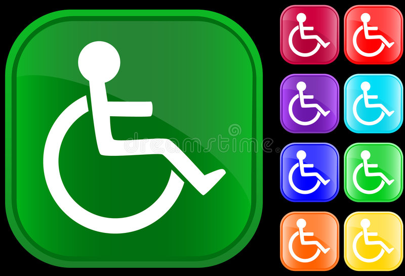 Download Handicap icon stock vector. Illustration of chair, disabled - 5233305