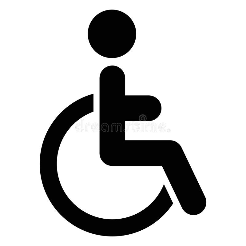 Handicap icon. Vector illustration of handicap icon royalty free illustration