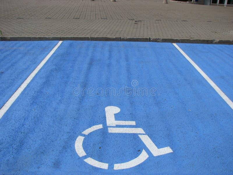 Handicap parking stock photography