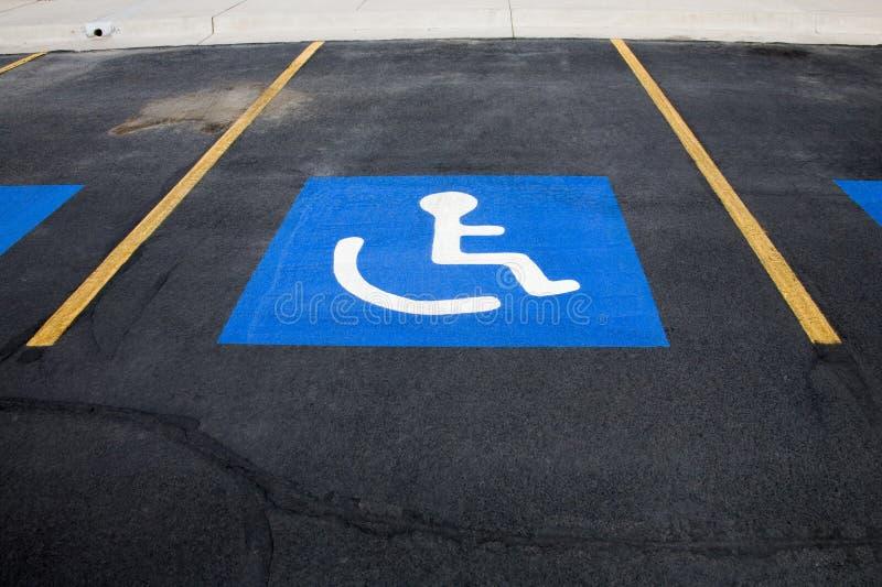 Handicap Parking stock images
