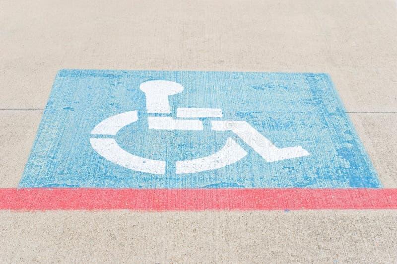 Download Handicap Parking stock image. Image of wheelchair, parking - 18730523