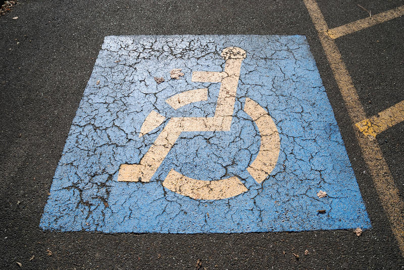 Handicap Parking Royalty Free Stock Images