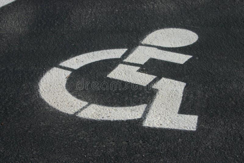 Handicap Parking royalty free stock photos
