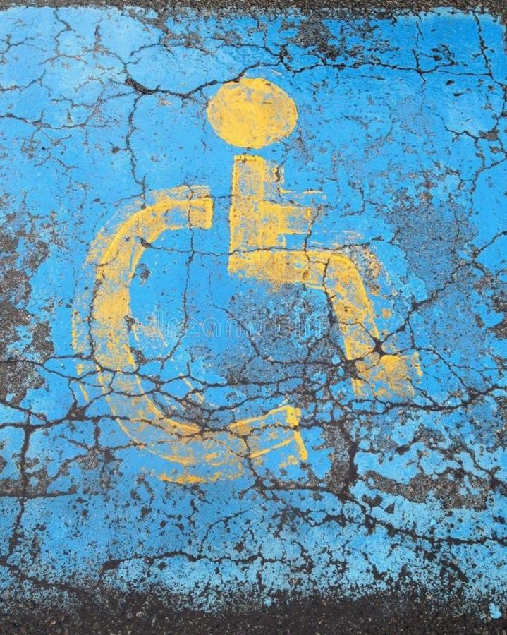 Handicap parking stock images