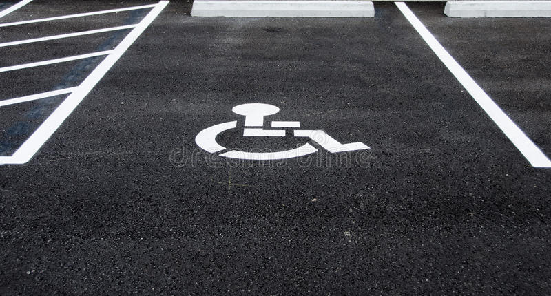 Handicap Parking Space royalty free stock photography