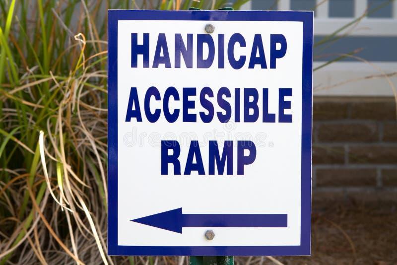 Handicap Ramp Sign