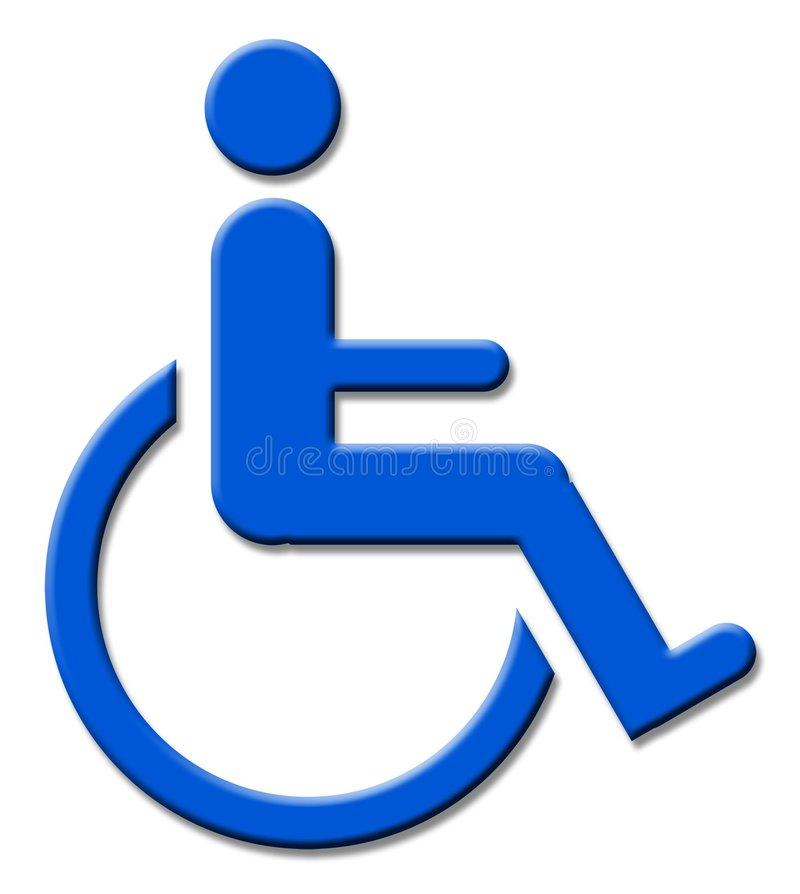 Handicap sign stock illustration