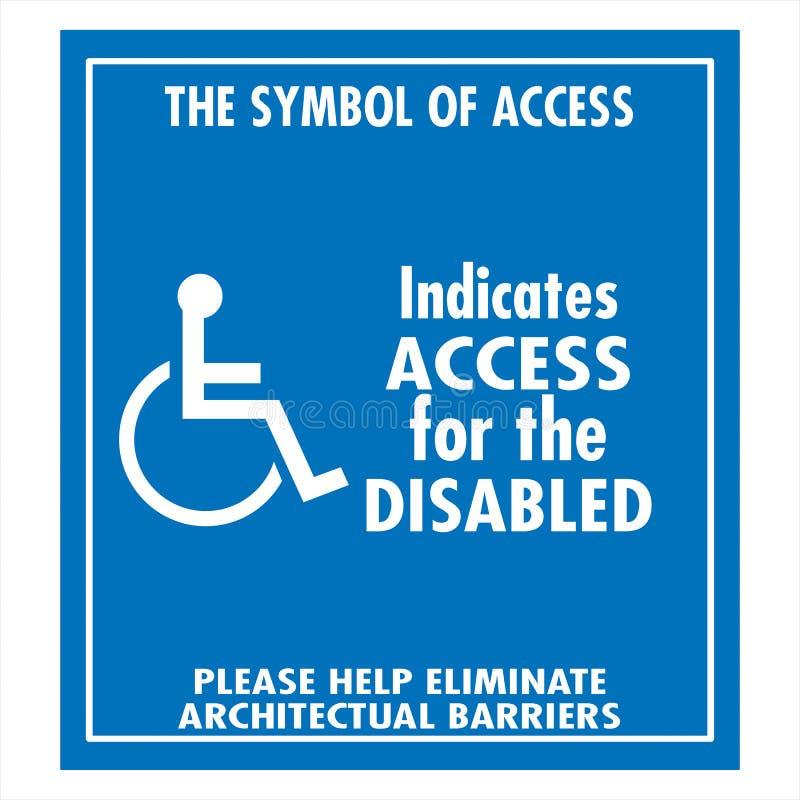 Handicap Sign Stock Illustration Illustration Of Disability 109948812