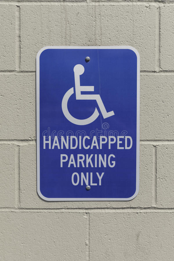 Handicap Sign Vertical royalty free stock photos