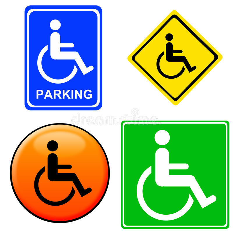 Download Handicap signs stock illustration. Image of mobility - 16541871