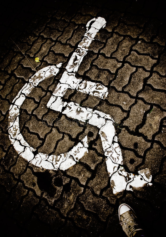 Download Handicap symbol stock photo. Image of painted, accessibility - 4167866