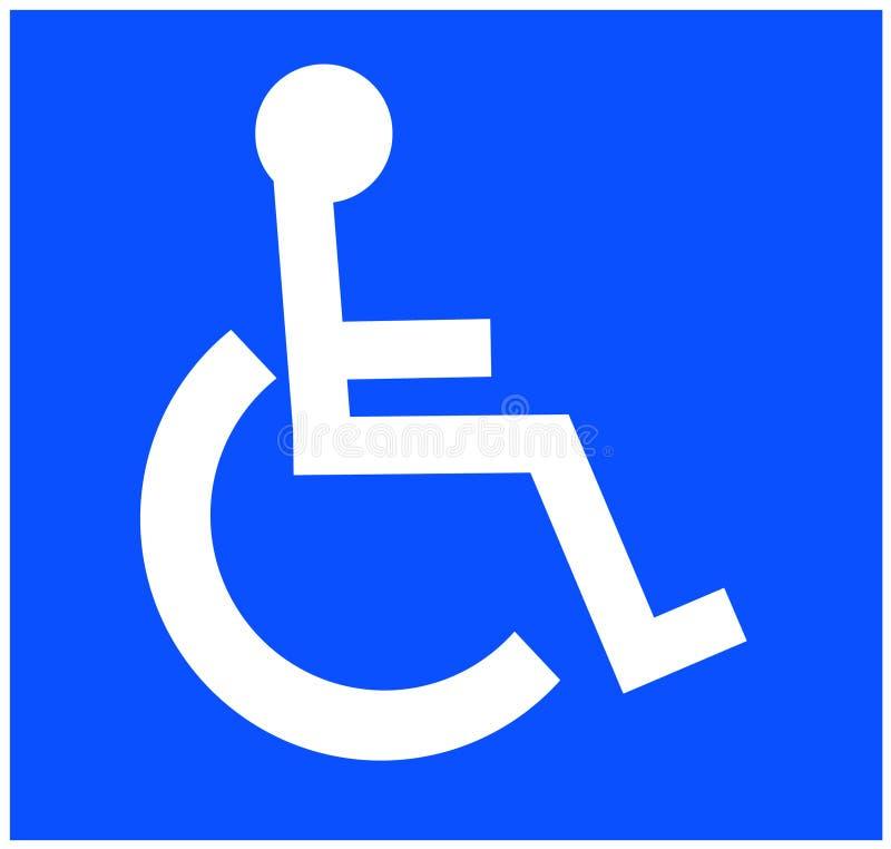 Handicap symbol royalty free illustration