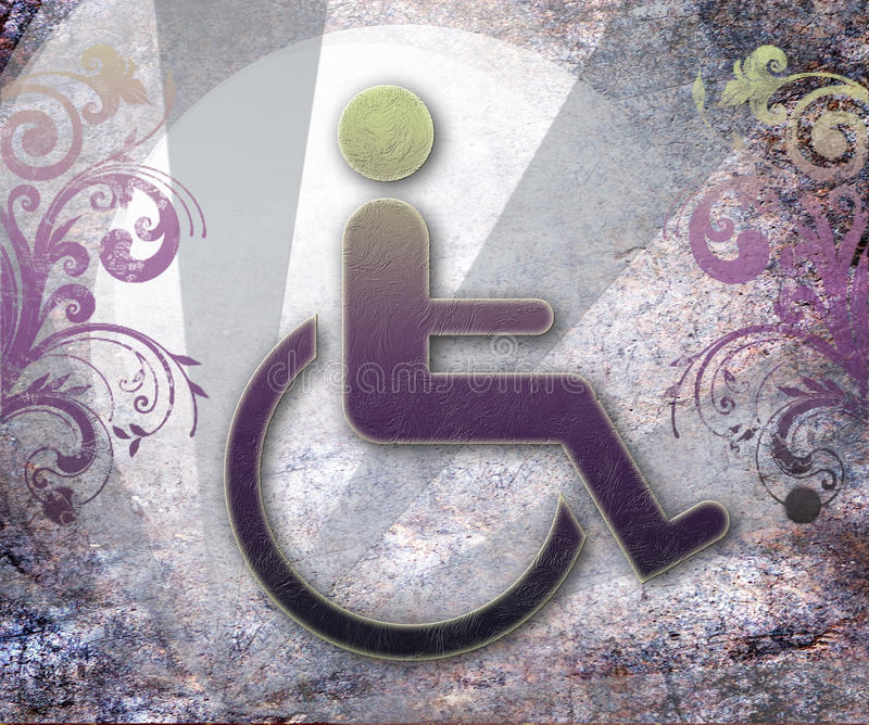 Handicap Symbol Of Accessibility,background Royalty Free Stock Image