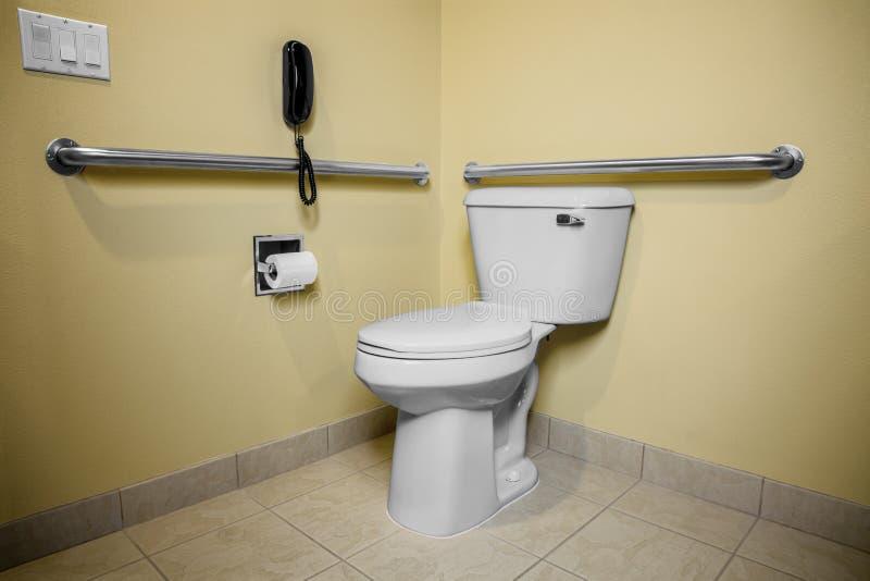 Handicap Toilet Phone royalty free stock photos