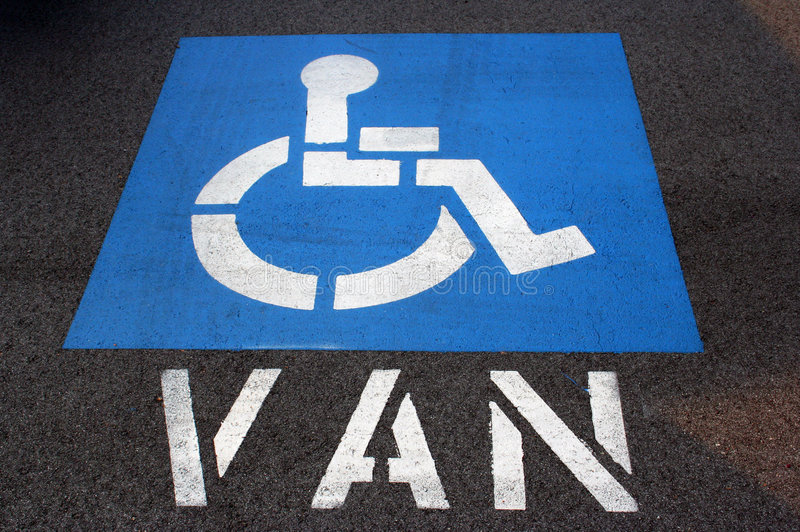 Handicap Van Parking stock fotografie