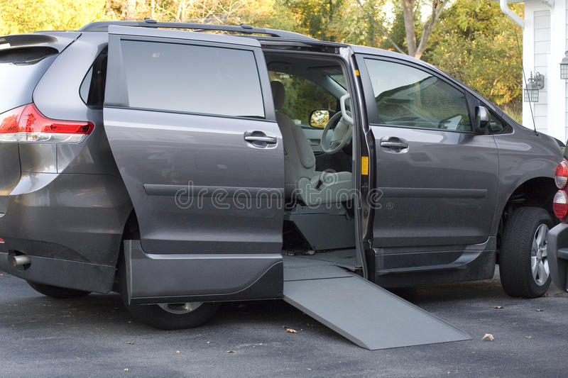 Handicap Van with Ramp royalty free stock photos