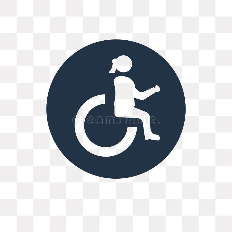 Handicap vectordiepictogram op transparante achtergrond, Handica wordt geïsoleerd royalty-vrije illustratie