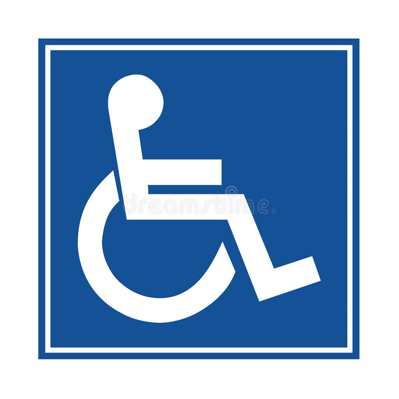 handicap or wheelchair person symbol stock illustration rh dreamstime com handicap logo vector handicap logo images