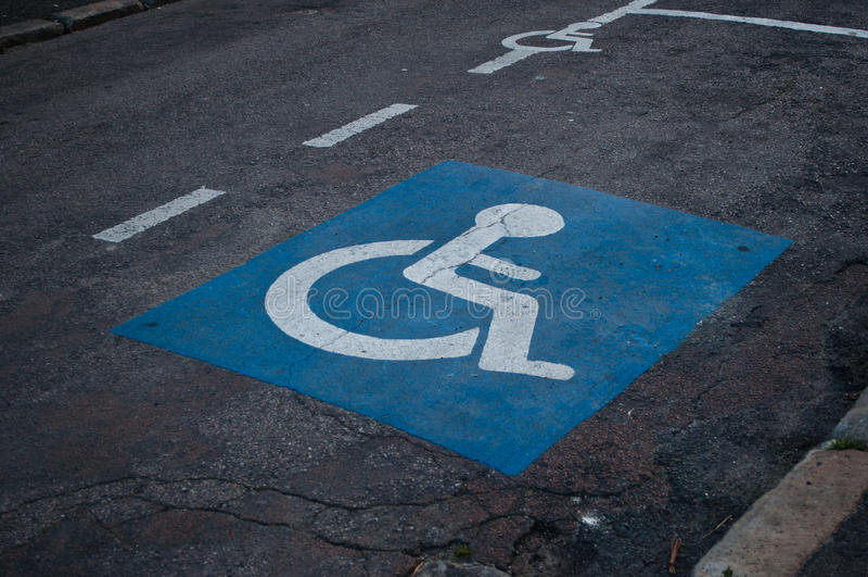 Handicaped停车处象 库存照片