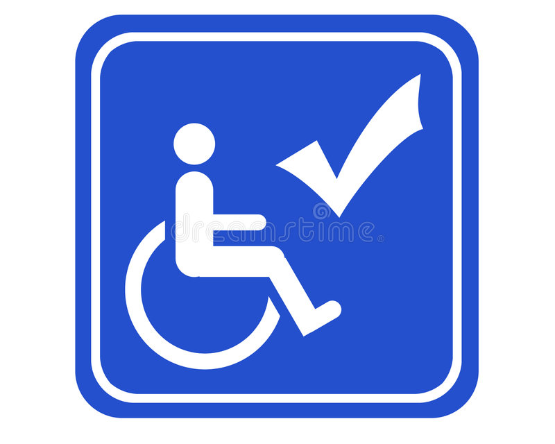 Download Handicapped accessible stock illustration. Image of signboard - 1201536