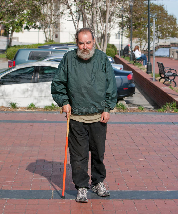 Free Handicapped Homeless Man Stock Photography - 30473472