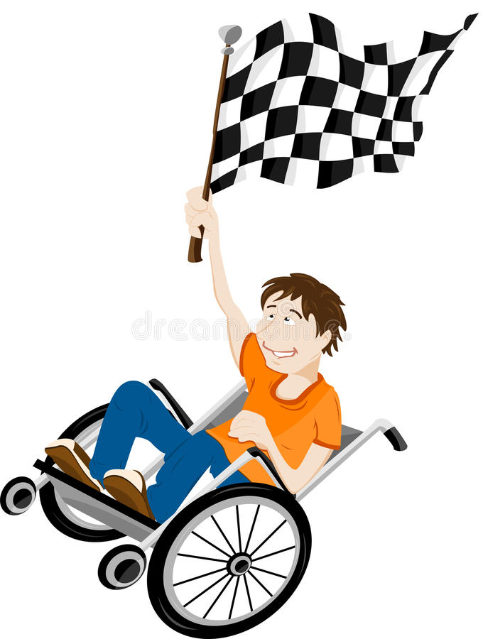 Download Handicapped Man In Wheelchair Stock Vector - Image: 13997671