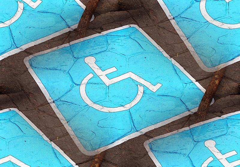 Handicapped or Disabled Parking Sign stock photos