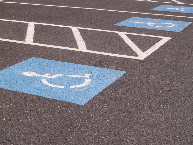 Handicapped parking spot royalty free stock photography