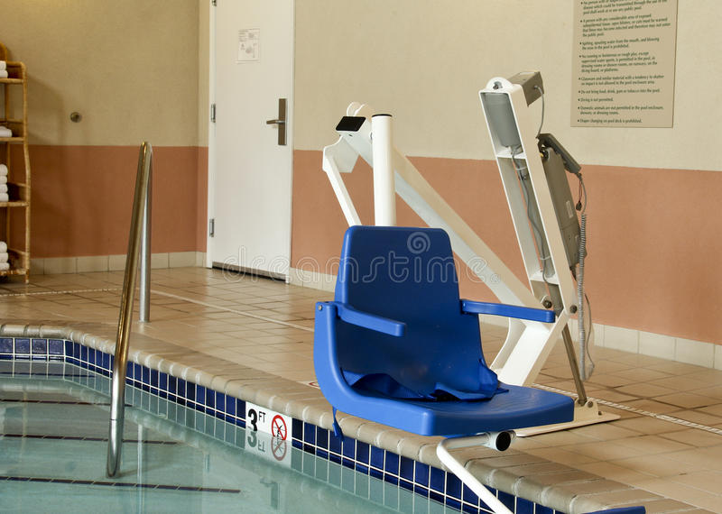 handicapped pool lift stock image image of help swim 42188323