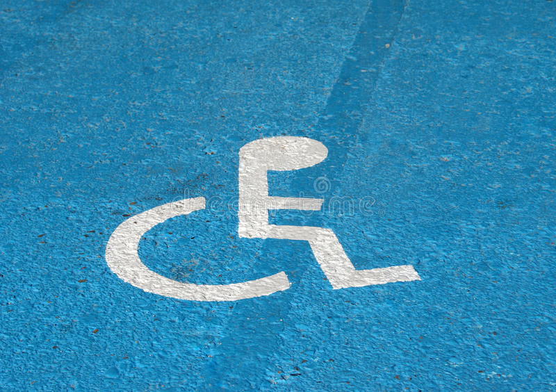 Download Handicapped sign stock photo. Image of warning, asphalt - 23736866