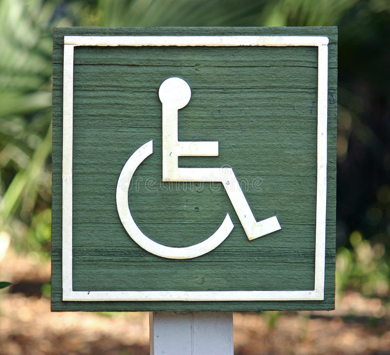 Handicapped Sign stock photography