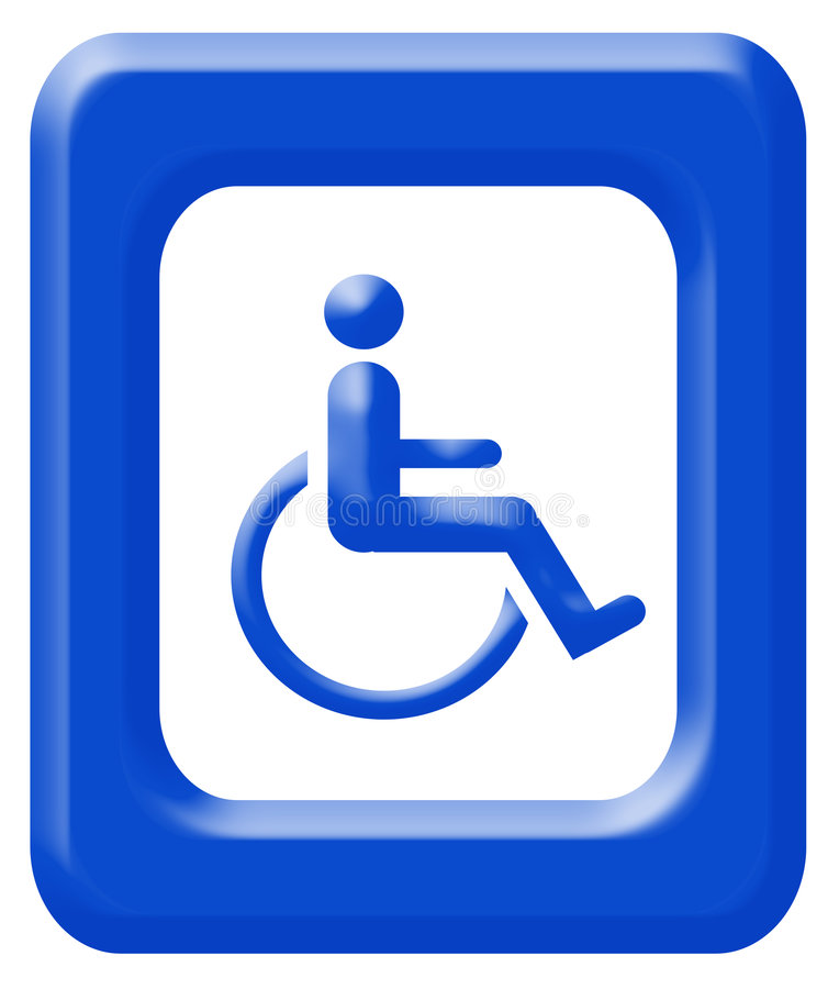 Handicapped sign stock image