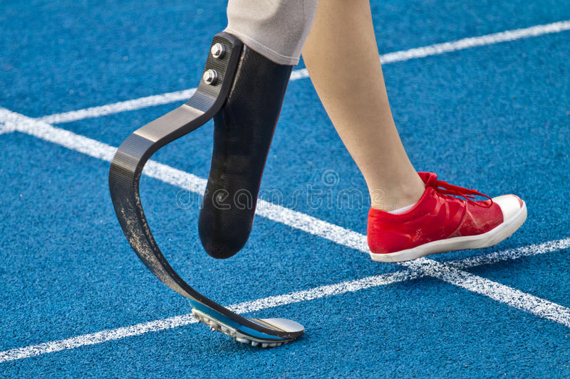 Download Handicapped Sprinter Walking Stock Photo - Image of disabled, disability: 26140864