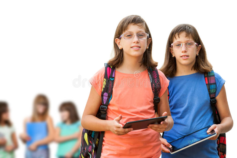 Handicapped students. royalty free stock images